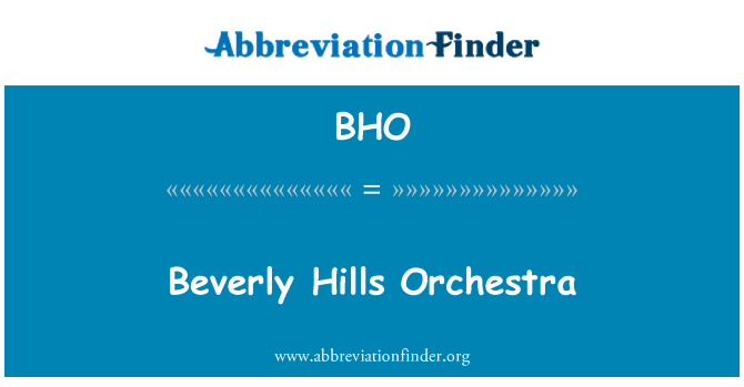 BHO: Beverly Hills Orchestra