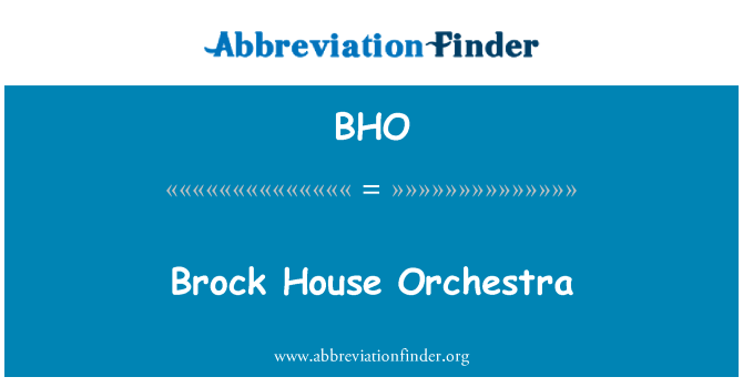 BHO: Brock House Orchestra