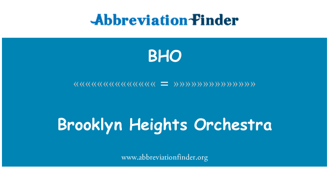BHO: Brooklyn Heights Orchestra