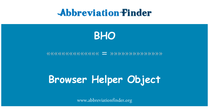 BHO: Browser Helper Object