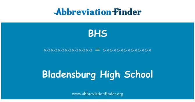 BHS: Bladensburg High School