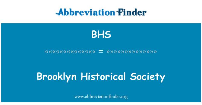 BHS: Brooklyn Historical Society