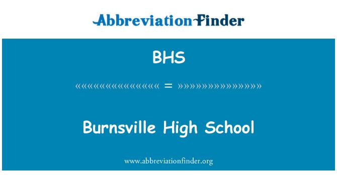 BHS: Burnsville High School