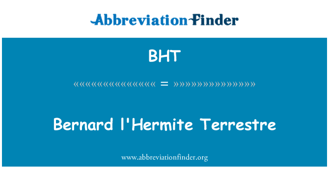 BHT: Bernard l'Hermite Terrestre