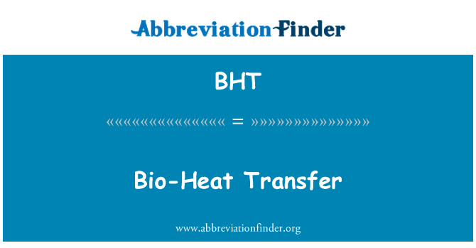BHT: Bio-Heat Transfer