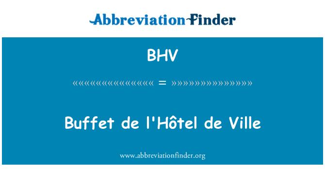 BHV: Buffet de l'Hôtel de Ville
