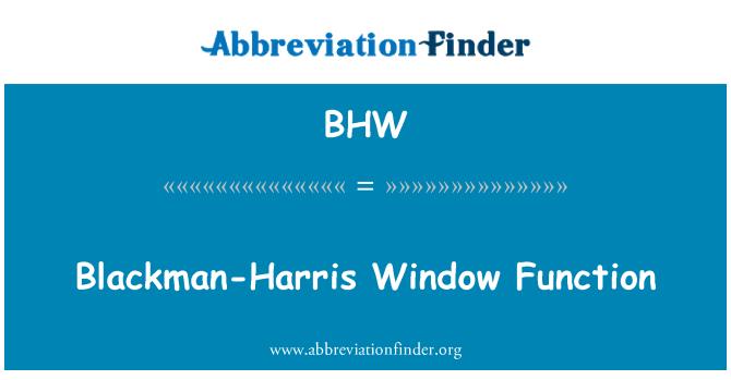 BHW: Blackman-Harris Window Function