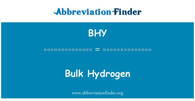BHY: Bulk Hydrogen
