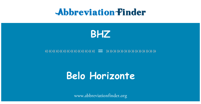 BHZ: Belo Horizonte