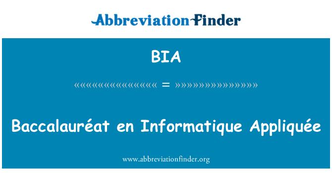BIA: Baccalauréat en Informatique Appliquée