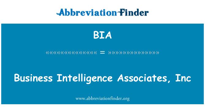 BIA: Business Intelligence Associates, Inc