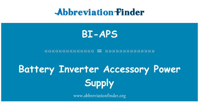 BI-APS: Battery Inverter Accessory Power Supply