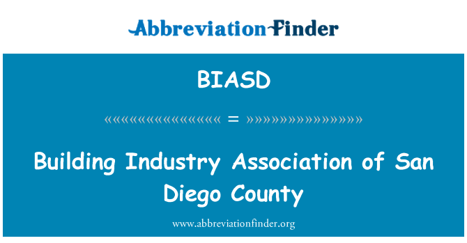 BIASD: Building Industry Association of San Diego County