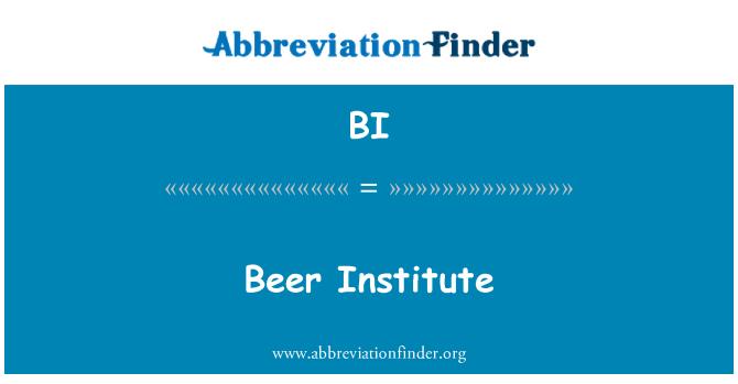 BI: Beer Institute