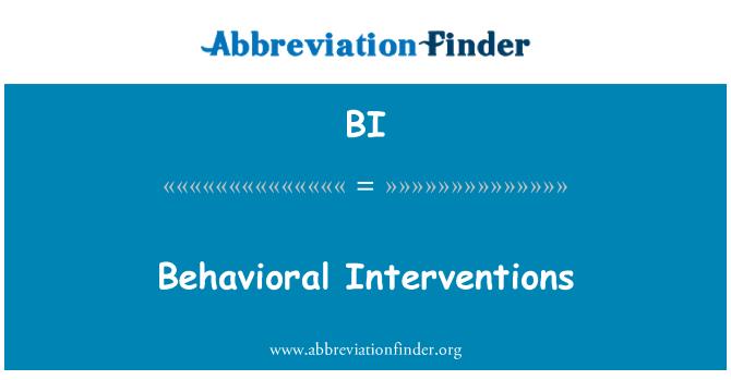 BI: Behavioral Interventions
