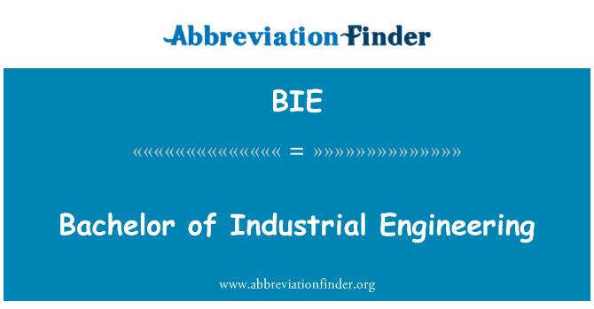 BIE: Bachelor of Industrial Engineering