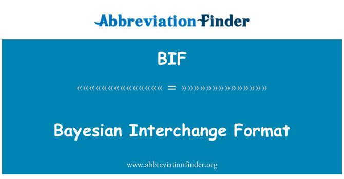 BIF: Bayesian Interchange Format