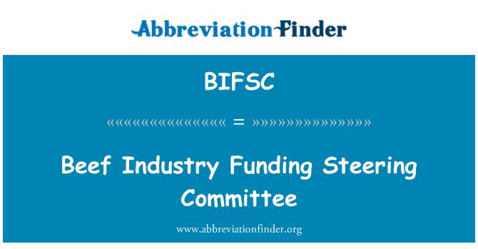 BIFSC: Beef Industry Funding Steering Committee