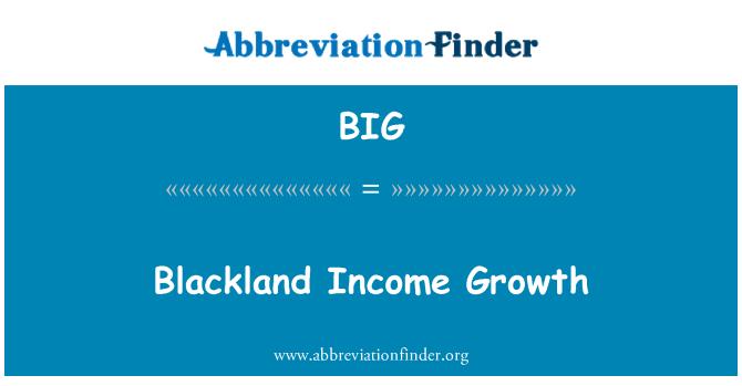 BIG: Blackland Income Growth