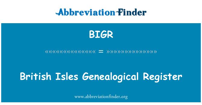 BIGR: 不列颠群岛系谱登记册