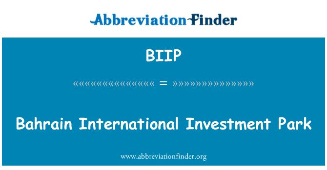BIIP: Bahrain International Investment Park
