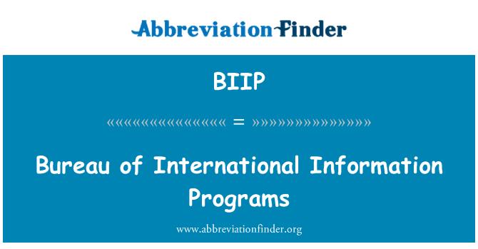 BIIP: Bureau of International Information Programs