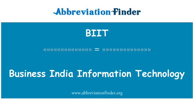 BIIT: Business India Information Technology