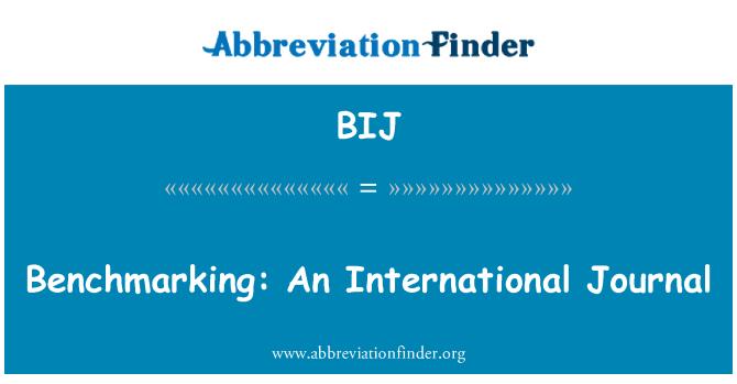 BIJ: Benchmarking: An International Journal