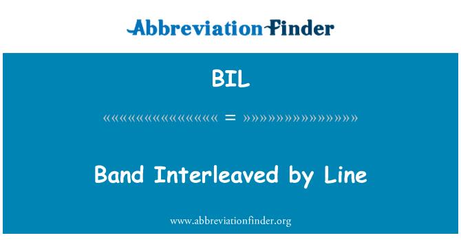BIL: Band Interleaved by Line