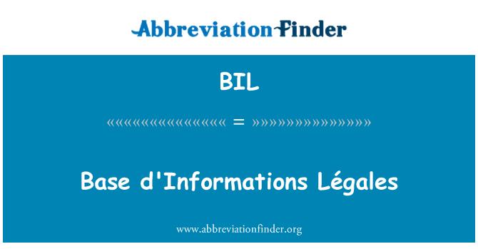 BIL: Base d'Informations Légales
