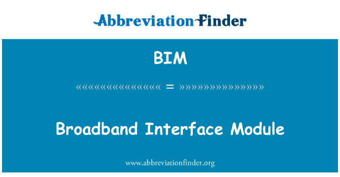 BIM: Broadband Interface Module