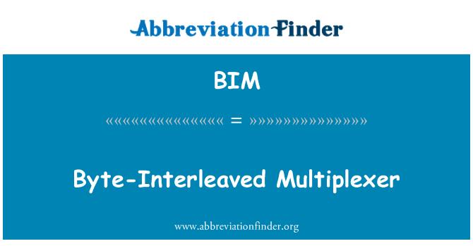 BIM: Byte-Interleaved Multiplexer