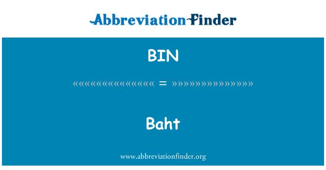 BIN: Baht