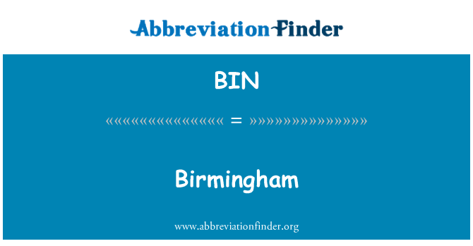 BIN: Birmingham