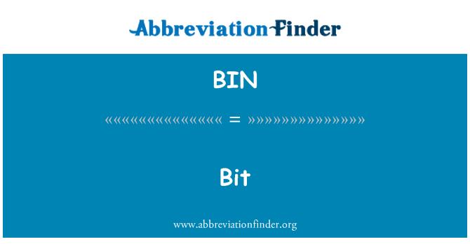 BIN: Bit