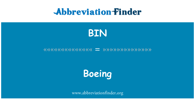 BIN: 波音公司