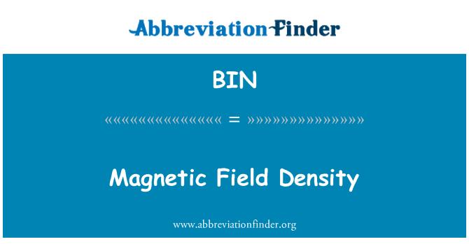 BIN: Ketumpatan medan magnet