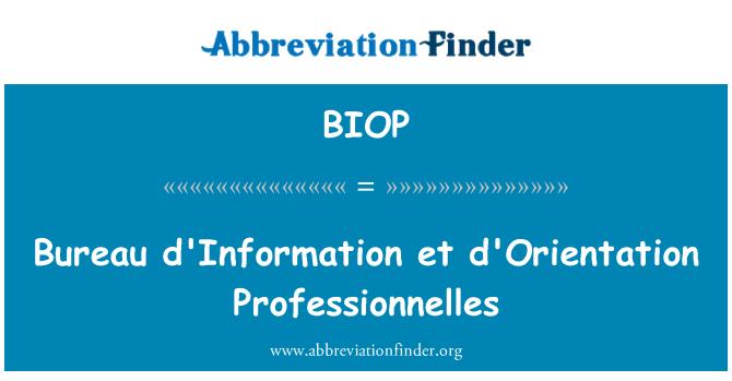 BIOP: Oficina información et d'Orientation profesionales