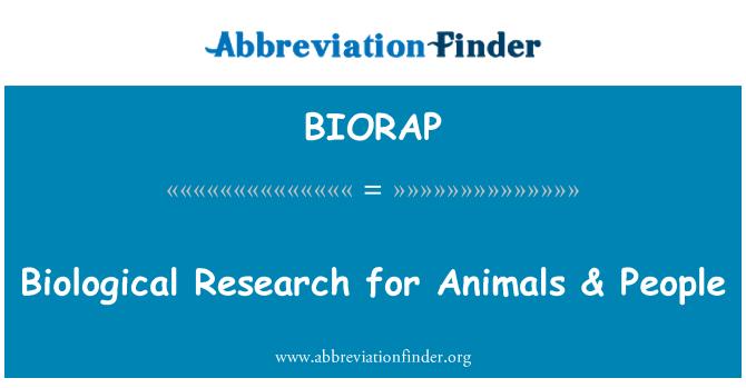 BIORAP: Investigación biológica de animales y personas