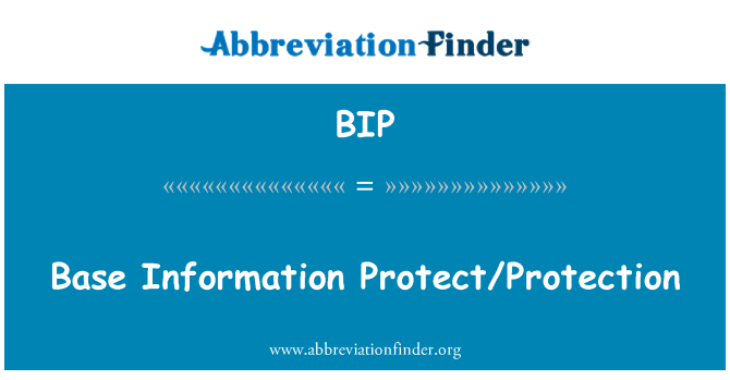BIP: Base Information Protect/Protection