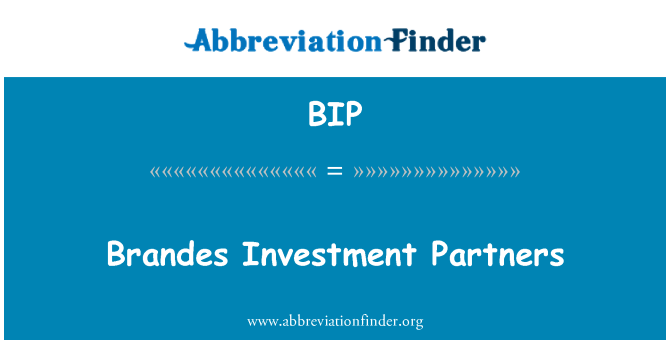 BIP: Brandes Investment Partners