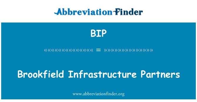 BIP: Brookfield Infrastructure Partners