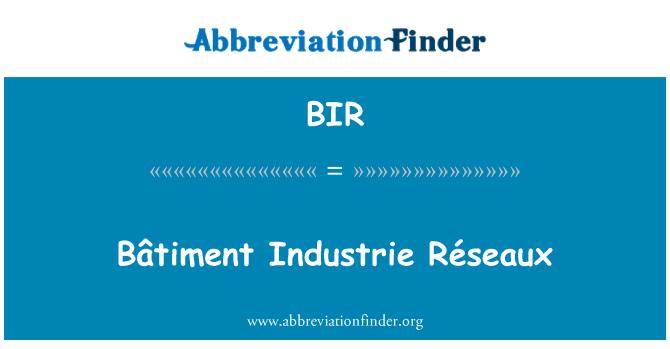 BIR: Bâtiment Industrie Réseaux