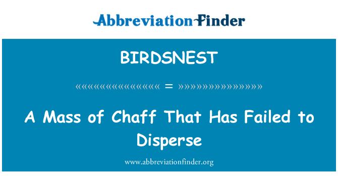 BIRDSNEST: Mase kukolja koji nije uspio raspršiti
