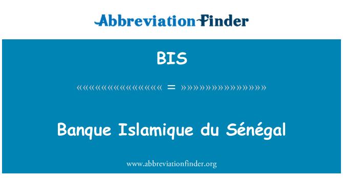 BIS: Banque Islamique du Sénégal