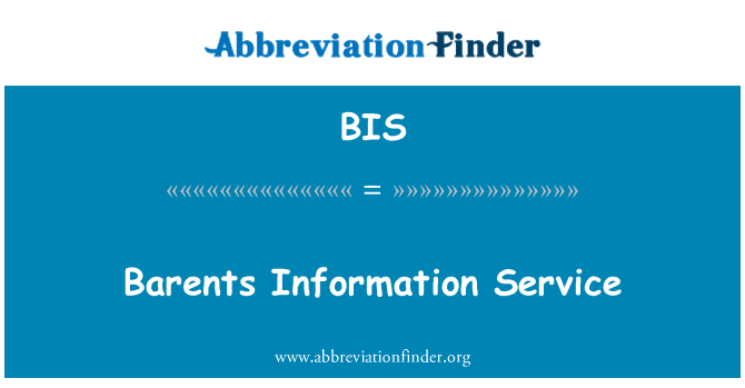 BIS: Barents Information Service