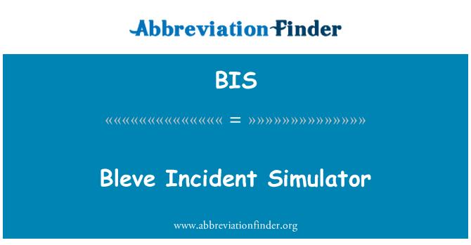 BIS: Bleve Incident Simulator