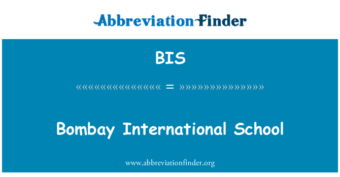 BIS: Bombay International School