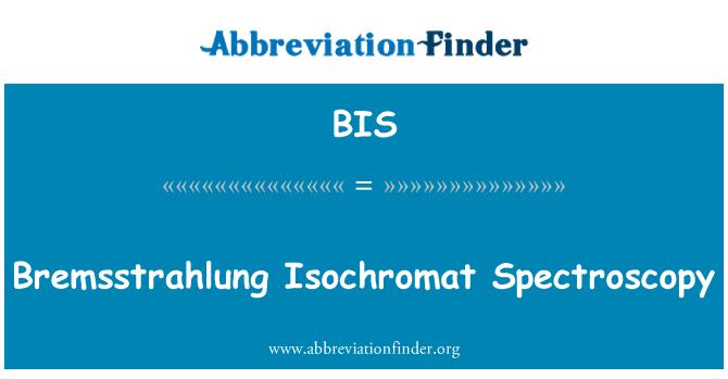 BIS: Bremsstrahlung Isochromat Spectroscopy