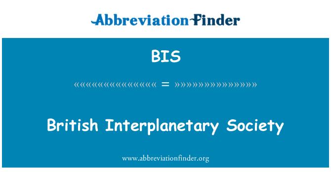 BIS: British Interplanetary Society
